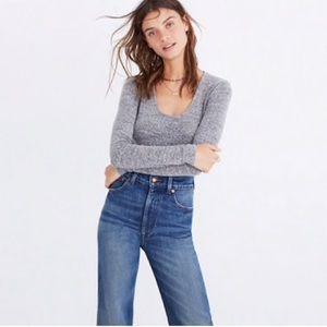 Madewell heather gray bodysuit